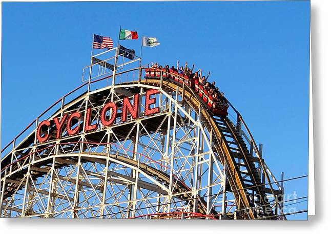 Greeting Card featuring the photograph The Cyclone by Ed Weidman