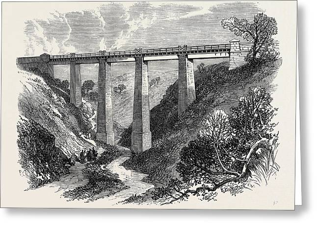 The Daff Viaduct Of The Greenock And Wemyss Bay Railway 1866 Greeting Card