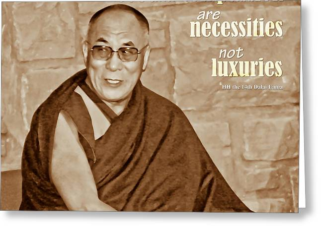 The Dalai Lama Greeting Card