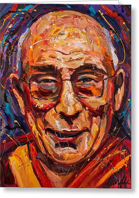 The Dalai Lama Greeting Card