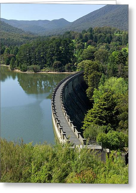 The Dam Wall Of Maroondah Reservoir Greeting Card by Dr Jeremy Burgess