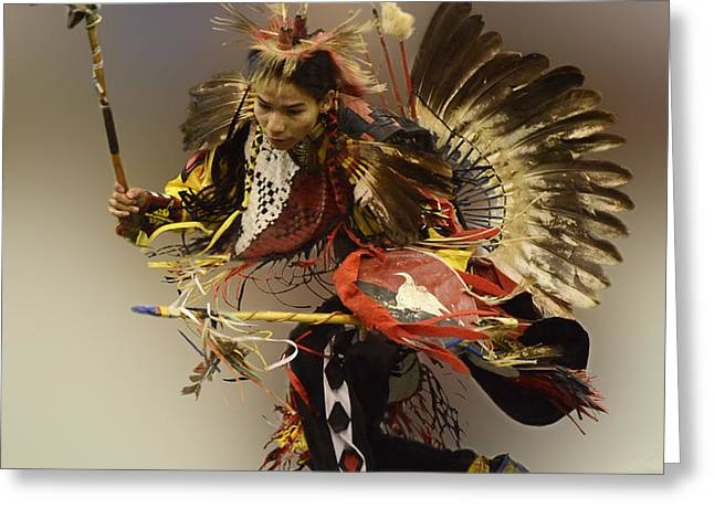 Pow Wow The Dance Greeting Card by Bob Christopher