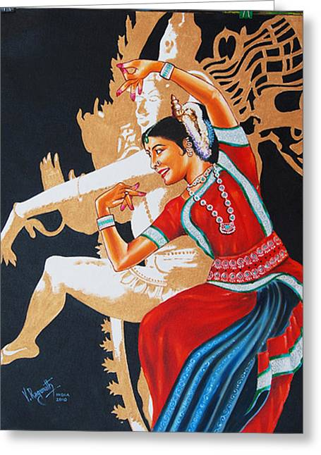 The Dance Divine Of Odissi Greeting Card