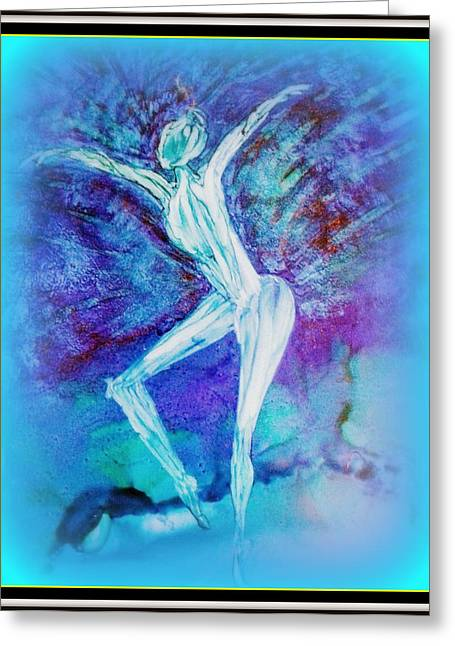 The Dance In Blue Greeting Card