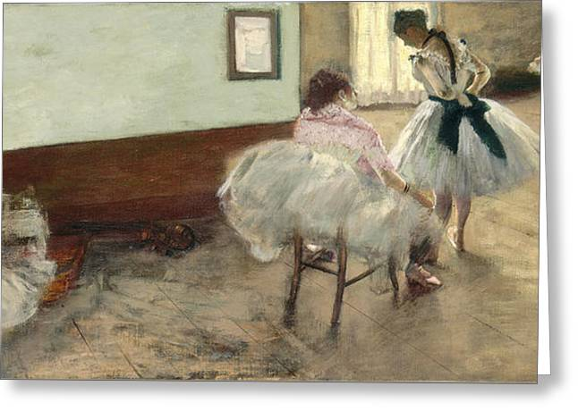 The Dance Lesson Greeting Card by Edgar Degas
