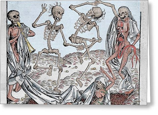 The Dance Of Death (1493 Greeting Card by Prisma Archivo