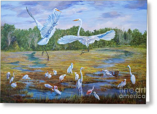The Dance Of Life Greeting Card by AnnaJo Vahle