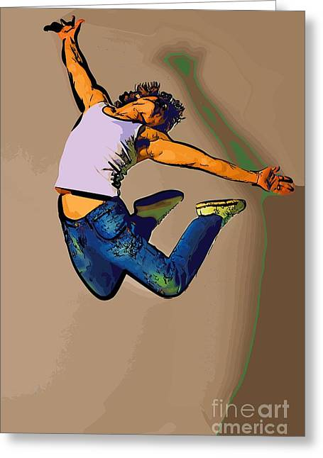 The Dancer 84 Greeting Card by College Town