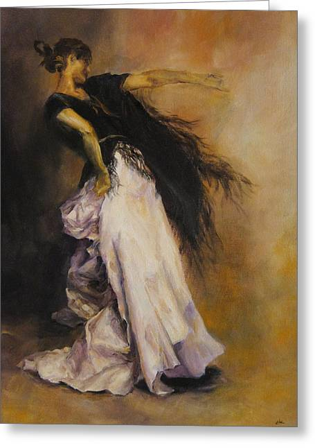 The Dancer Greeting Card by Diane Kraudelt
