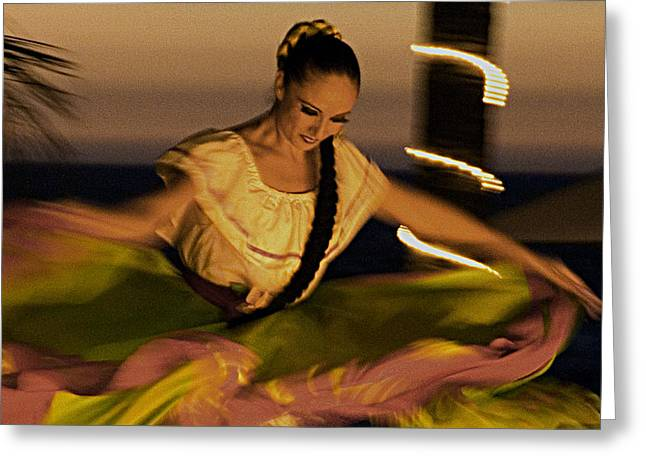 Greeting Card featuring the photograph The Dancer II by Chuck Caramella
