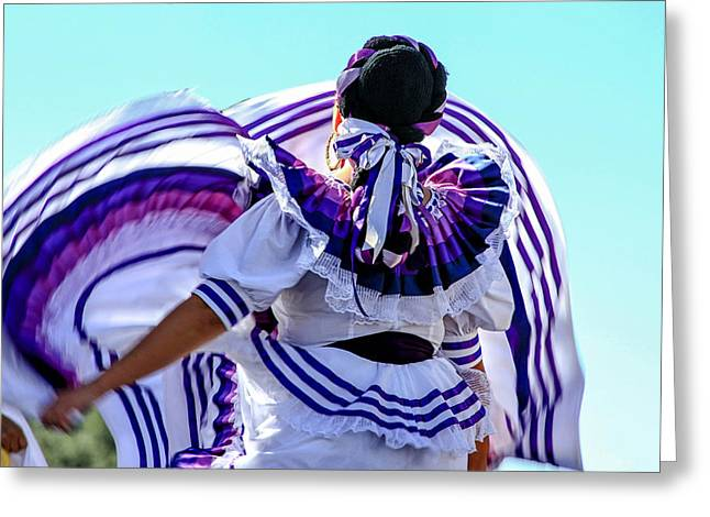 The Dancer Greeting Card by Menachem Ganon