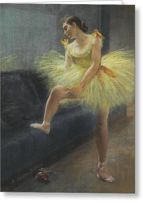 The Dancer Greeting Card by Pierre Carrier-Belleuse