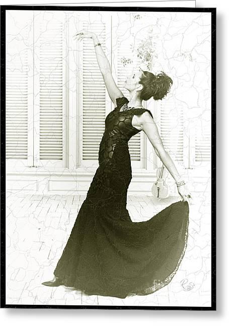 The Dancer Greeting Card by Robert Saunders Jr