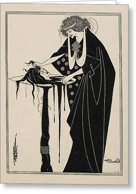 The Dancer's Reward. From Salome. Greeting Card by British Library