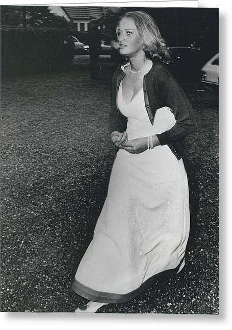 The Danes Believe Countess Desires Could Be The Bride For Greeting Card by Retro Images Archive