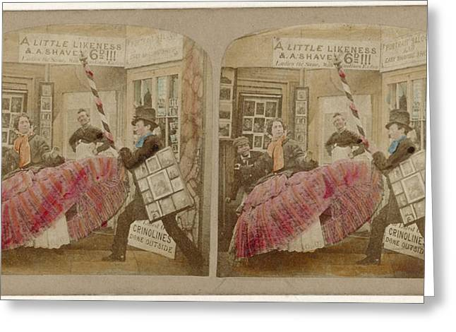 The Dangers And Perplexities Of Crinoline Greeting Card by Quint Lox