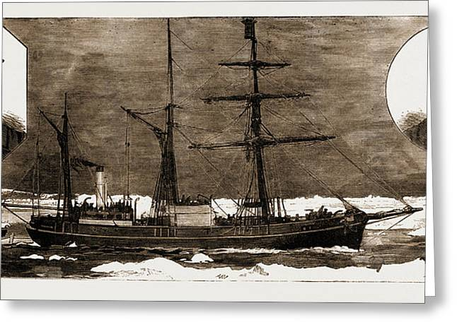 The Danish Nort-polar Expedition The Djimphna Greeting Card by Litz Collection