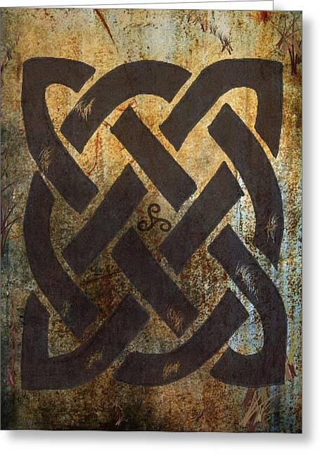 The Dara Celtic Symbol Greeting Card by Kandy Hurley