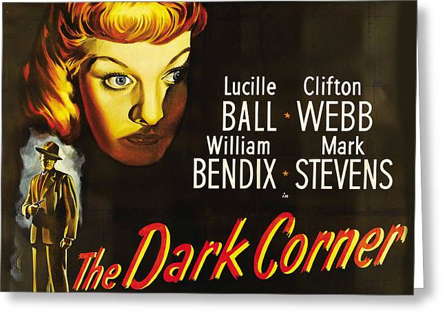 The Dark Corner Greeting Card by Studio Artist