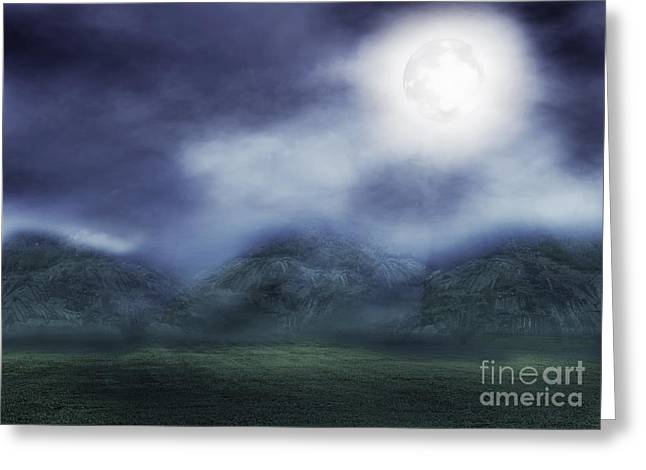 The Dark Fog Greeting Card by Jaturong Panomphoum