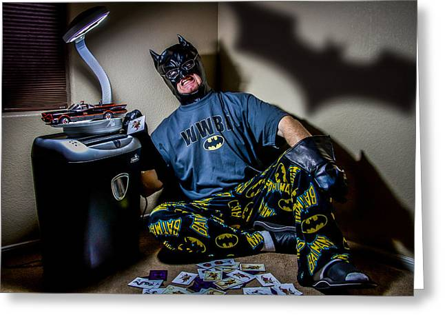 The Dark Knight Retired Greeting Card by Randy Turnbow