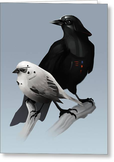 Greeting Card featuring the painting The Dark Side Of The Flock by Michael Myers