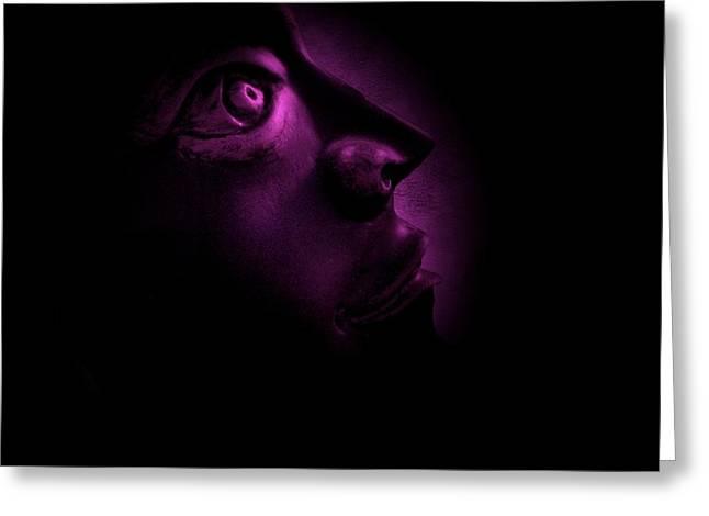 The Darkest Hour - Magenta Greeting Card