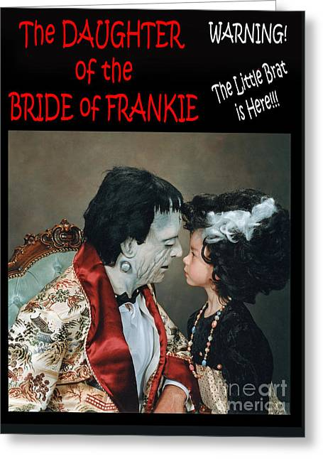 The Daughter Of The Bride Of Frankie Greeting Card by Jim Fitzpatrick