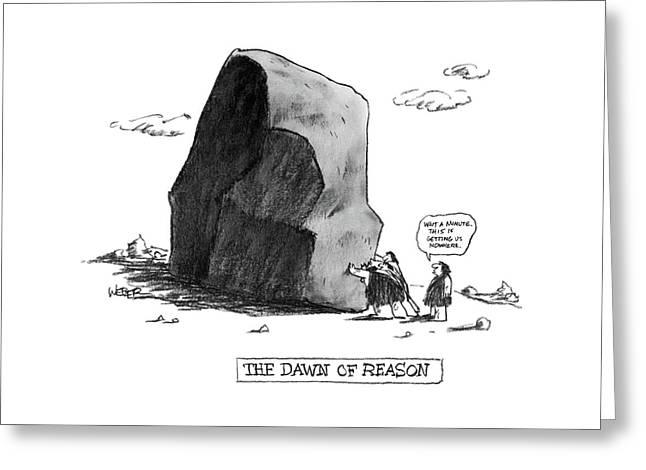 The Dawn Of Reason Greeting Card