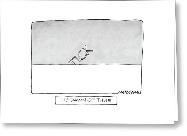 The Dawn Of Time Greeting Card by Mick Stevens