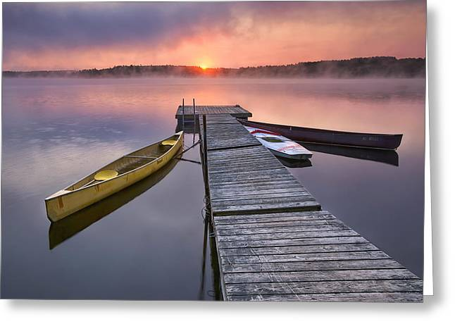 The Day Begins Greeting Card by Darylann Leonard Photography