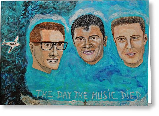 The Day The Music Died. Greeting Card by Ken Zabel