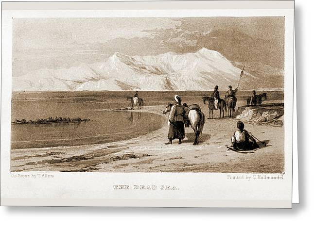 The Dead Sea, Israel, Journal Of A Tour In The Holy Land Greeting Card