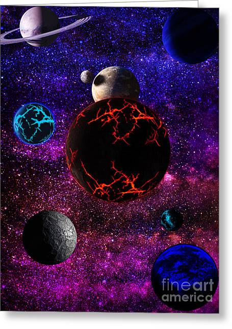 The Dead Solar System  Greeting Card by Naomi Burgess