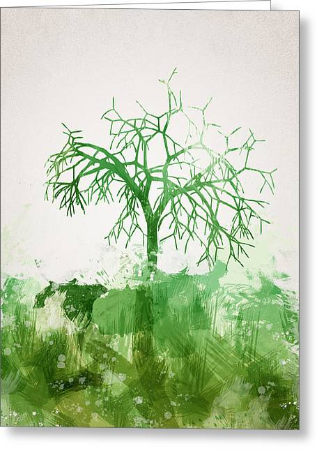 The Dead Tree Greeting Card by Aged Pixel
