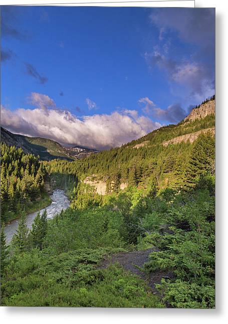 The Dearborn River In The Lewis Greeting Card by Chuck Haney