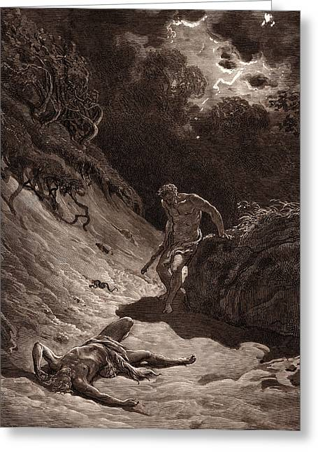 The Death Of Abel, By Gustave DorÉ. Dore Greeting Card