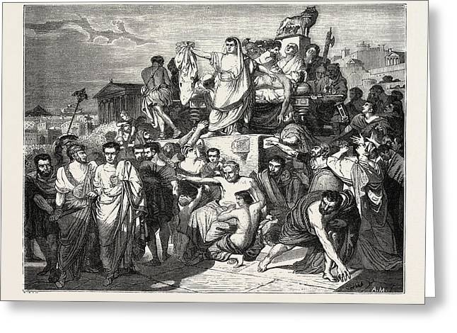 The Death Of Caesar Greeting Card