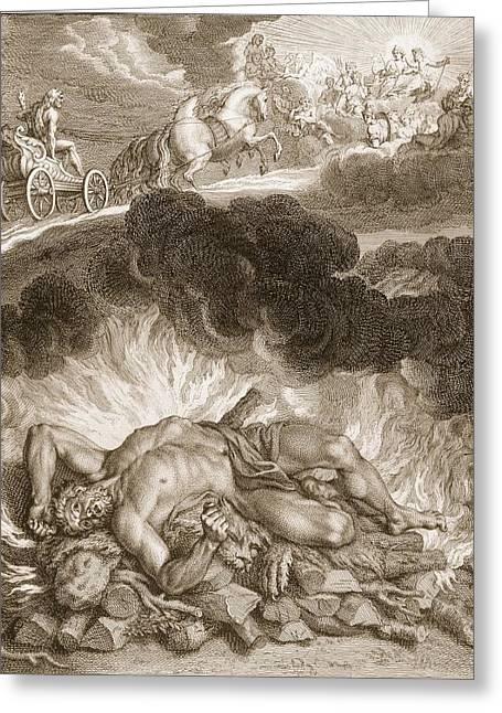 The Death Of Hercules, 1731 Greeting Card by Bernard Picart