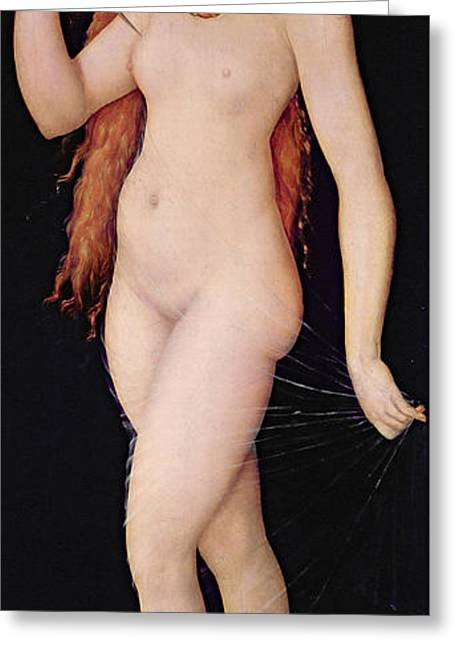 The Death Of Lucretia Greeting Card by Lucas the elder Cranach