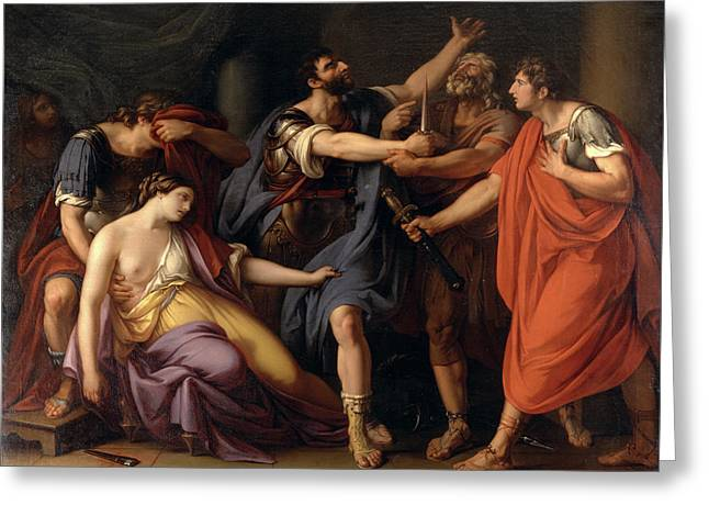 The Death Of Lucretia The Oath Of Brutus Greeting Card