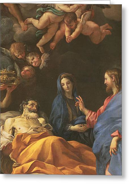 The Death Of Saint Joseph Greeting Card
