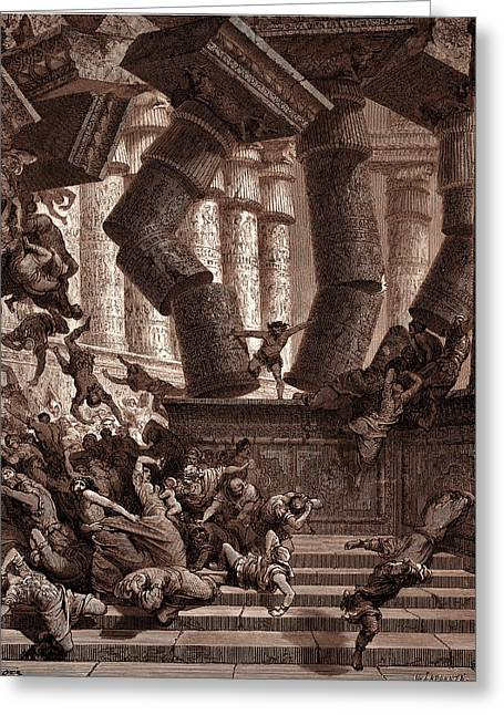The Death Of Samson, By Gustave Dore. Gustave Dore Greeting Card by Litz Collection