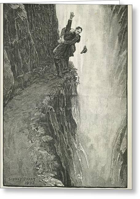 The Death Of Sherlock Holmes Greeting Card