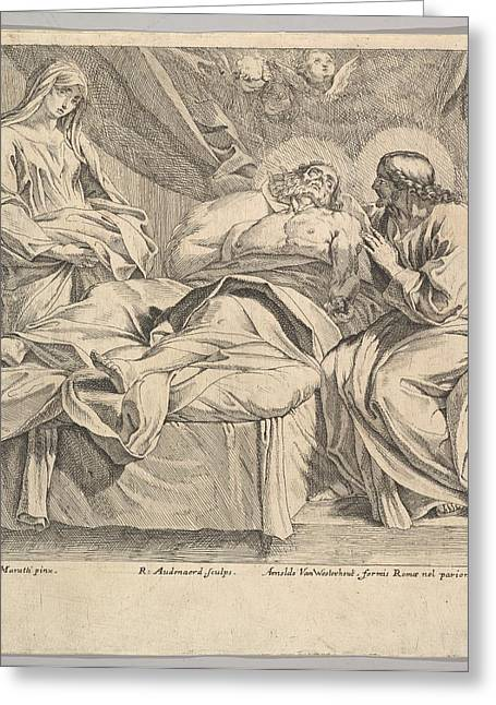 The Death Of St. Joseph Greeting Card
