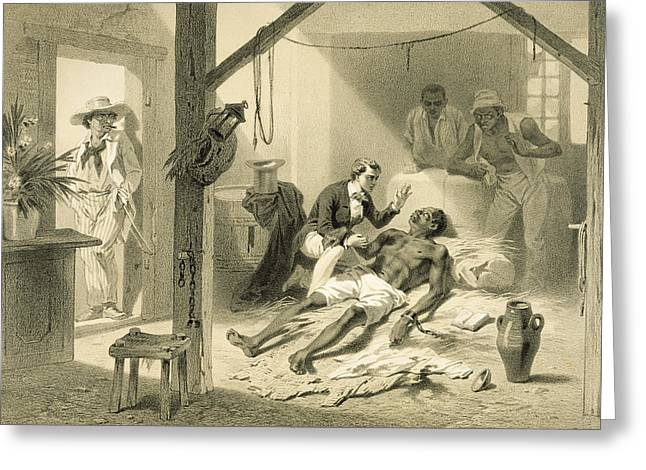 The Death Of Uncle Tom, Plate 11 Greeting Card by Adolphe Jean-Baptiste Bayot