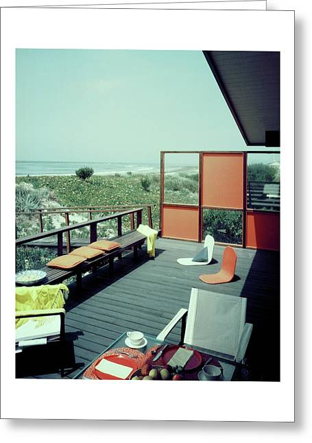 The Deck Of A Beach House Greeting Card