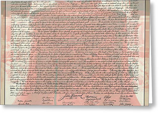 The Declaration Of Independence Greeting Card by Stephen Stookey