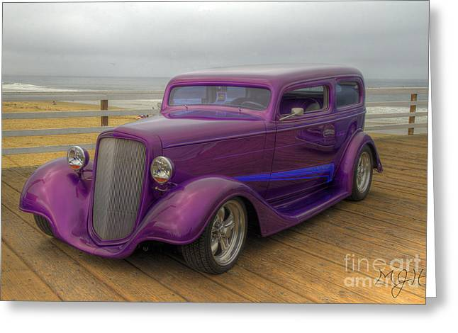 The Deep Purple Ride Greeting Card