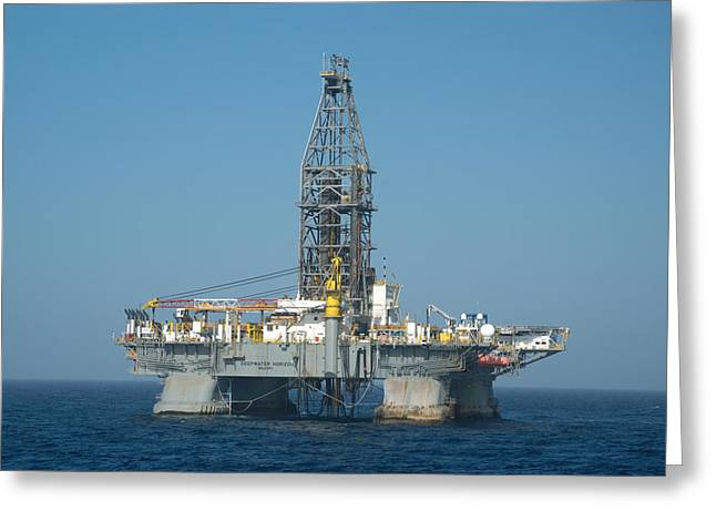 Greeting Card featuring the photograph The Deepwater Horizon by Bradford Martin
